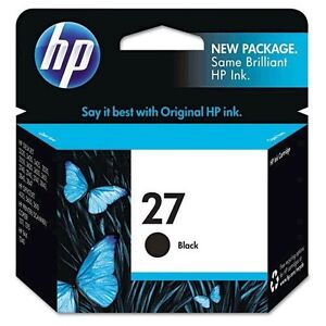 Genuine HP 27 (C8727AN) Black Inkjet Print Cartridge exp 6 2015