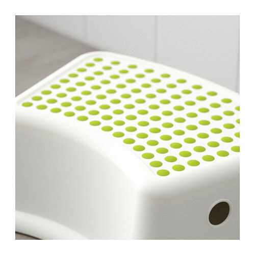 as new White & blue children's stool with Anti-slip cover on top to reduce the risk of slippage