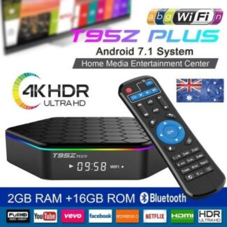 T96Z PLUS 2/16GB ANDROID 7 TV BOX KODI 17.6 BT 5G WIFI NETFLIX 4K