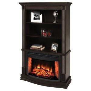 Greenway Home Bookshelf with fireplace