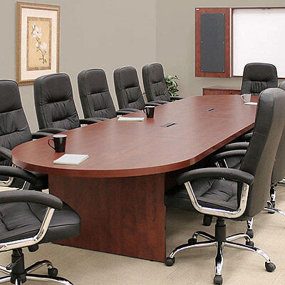 Large Conference Table Cherry Mahogany Or Espresso With Power Data Modules New
