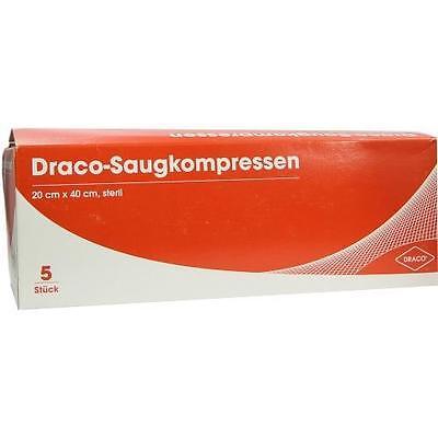 SAUGKOMPRESSEN steril 20x40cm Draco 5St Kompressen PZN 6563158