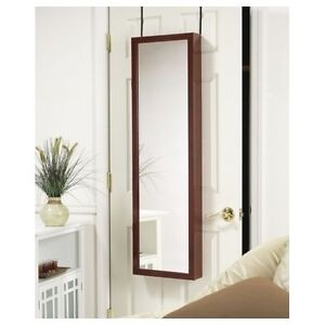 Jewelry Mirror Armoire Door Hang Wall Mount Organizer Cabinet Storage 6 Colors