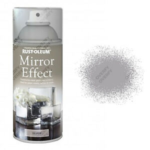 x1 Rust-Oleum Mirror Effect Spray Paint Silver Gloss Finish Art And Craft 150ml