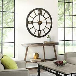 FirsTime & Co. Big Time Wall Clock 40 Oil Rubbed Bronze