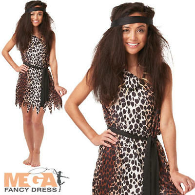 Cavewoman Outfits (Cavewoman Ladies Fancy Dress Barbarian Cave Girl Womens Adults Costume Outfit)