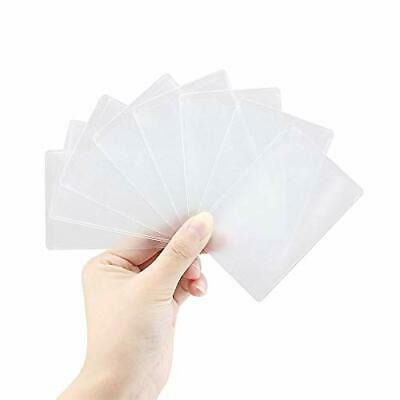 Owfeel 8pcs Transparent Plastic Vertical Id Credit Card Holder Protector Sleeve