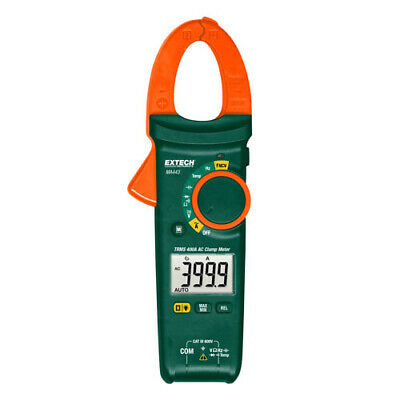 Extech Ma443 Trms Ac Clamp Meter 600vacdc 400a Type-k Temp Ip Ncv