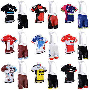 2016 Kurzarm Radfahren Fahrrad Trikot Radtrikot+Trägerhose Rad Hose Shorts Set