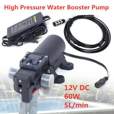 60w High Pressure Pump Water Pressure Booster Pump 12v 5lmin 16.5106cm