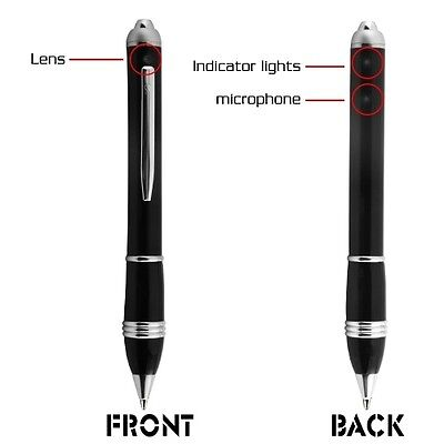 VIDEO SPY PEN CAMERA RECORDER FULL HD MOTION DETECTION with 2 HOUR BATTERY LIFE