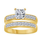14k CZ and Diamond Simulant Engagement/Wedding Ring Sets
