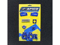 Blue Bling Kit KTM SX 85 13-14 AXLE BLOCKS/CYLINDER COVER/ENGINE PLUGS/VALVE CAP