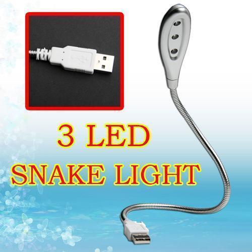 USB 3 LED Mini light lamp Snake Metalflexible for PC Notebook Laptop Desktop New