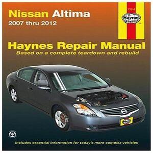 Nissan Altima Repair Manual Ebay