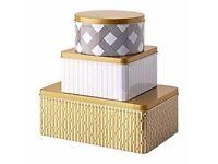 Ikea Vinterkul storage tins Tea Sugar Flour Pasta