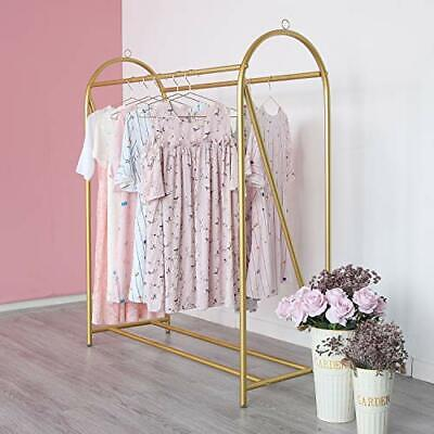 Gold Clothing Rack Retail Display Heavy Duty Clothes Garment Rack For Boutiqu...