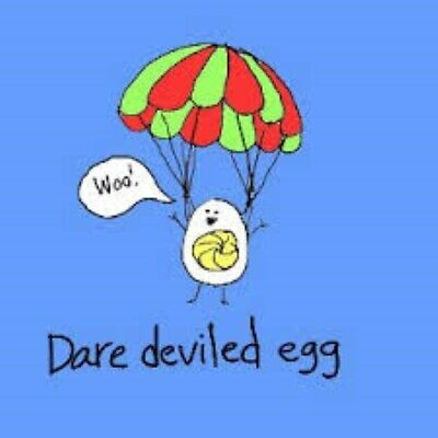 Hard Boiled Eggs Breakfast (Dare Deviled Egg Hard Boiled Parachuting Down Poached Breakfast Chicken)