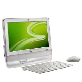 "WHITE Eee TOP ET1602 15.4"" Touchscreen ALL IN ONE PC N270 1.6GHz 4GB 500GB + PSU !! I"