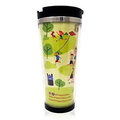 Pappo Gear Customizable Travel Photo Mug with Lid - 17 Oz Stainless Steel Travel - Photo Travel Mugs
