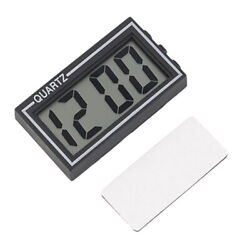 Mini Time Data LCD Digital Display Clock Calendar For Desk Auto Car Dashboard
