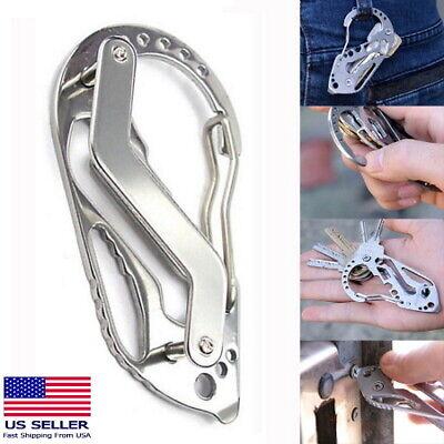 Quickdraw Carabiner Clip EDC KEYCHAIN Outdoor Belt Key Holder Organizer Tool NEW