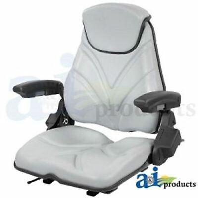 F20st135 Universal Seat F20 Series Slide Track Armrest Headrest Gray Vinyl