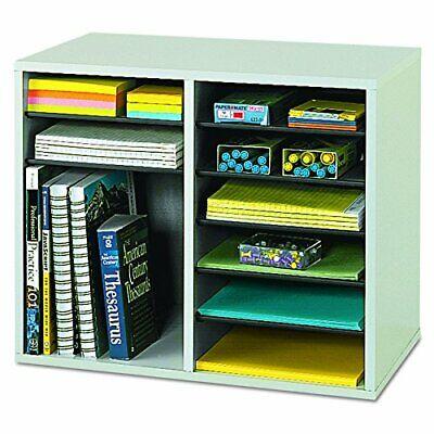 Safco Mail Sorter Organizer Wood Adjustable Literature Organizer Paper Holder