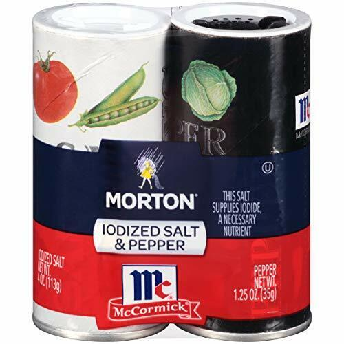 Morton Iodized Salt and McCormick Pepper Shaker Set, 5.25 Ounce (Pack of 12)