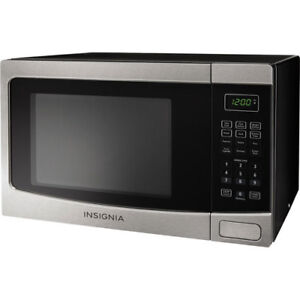 NEW Countertop Microwave 1.2 Cu. Ft Stainless Steel/Black