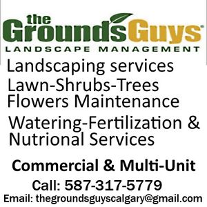 Commercial Lawn and Property Care in Calgary Grounds Guys of Cal