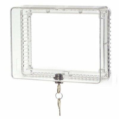 Universal Home Locking Thermostat Cover Anti Tamper Guard Lock Protection Box