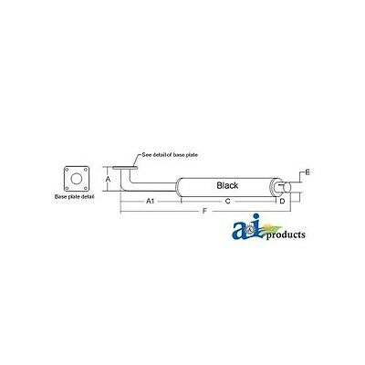 Sba314100350 314100350 Muffler For Ford Compact Tractor 1100 1200 1300