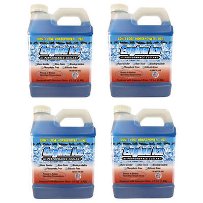 ENGINE ICE 1/2 GAL HIGH PERFORMANCE COOLANT NON-TOXIC BIODEGRADABLE 4 Bottles High Performance Coolant