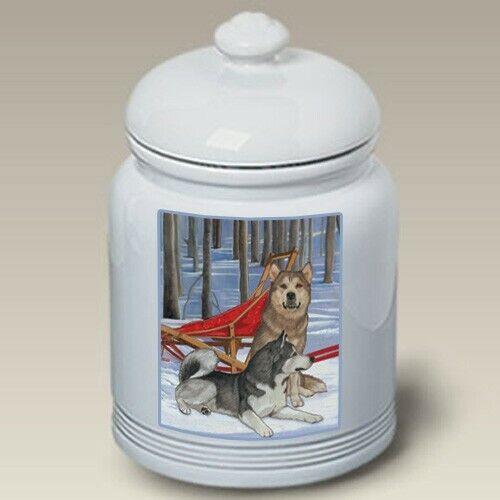 Alaskan Malamute Ceramic Treat Jar PS 52147