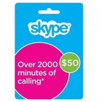 Skype Voucher/Credit $50 USD
