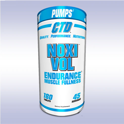 CTD NOXIVOL (180 TABLETS) vasodilator pump boost no3 beta alanine joint support