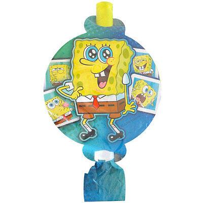 SPONGEBOB SQUAREPANTS Selfies BLOWOUTS (8) ~ Birthday Party Supplies Favors Blue (Spongebob Squarepants Birthday Party Supplies)