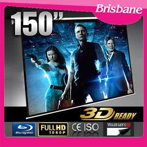 "150"" Electric Projector Screen Cinema Home Projection Matt QLD Eagle Farm Brisbane North East Preview"