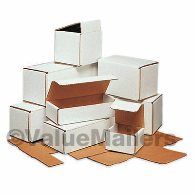 50 -  6x4x3 White Corrugated Shipping Mailer Packing Box Boxes 6 x 4 x 3