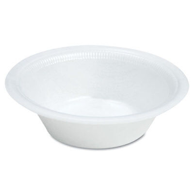 Quiet Classic Laminated Foam Dinnerware, Bowl, 12oz, White, (White Laminated Foam Bowl)