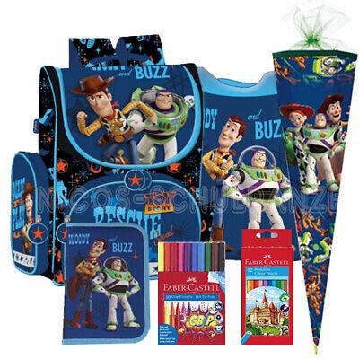 Toy Story 4 Schulranzen Tornister Ranzen Rucksack Set Woody Buzz mit Schultüte
