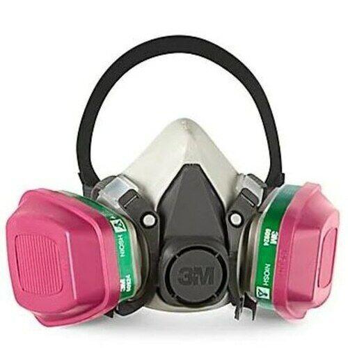 3M 6100 & 2 EA 60924 Ammonia/Methylamin/P1OO Cartridge HalfFace Respirator SMALL Business & Industrial