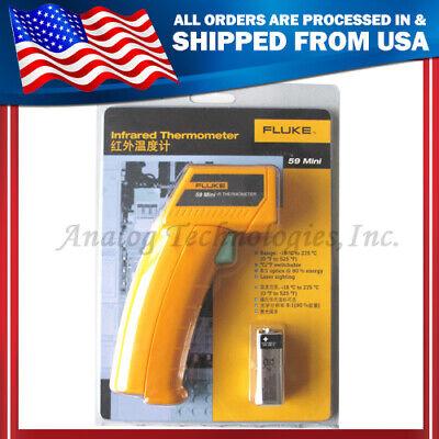 True New Fluke 59 F59 Mini Handheld Laser Ir Infrared Thermometer Gun -18275c