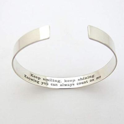 Inspirational Bracelet. Custom Engraved Bracelet or Best Friend. Sister (Best Friend Engraved Bracelets)