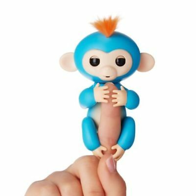 Fingerlings Interactive Baby Monkey Boris Blue With Orange Hair By Wowwee New