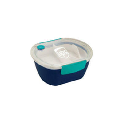 Food Service Plastic Container (UNITED PARCEL SERVICE UPS PUNCH OVAL PLASTIC 2 COMPARTMENT TRAY FOOD)