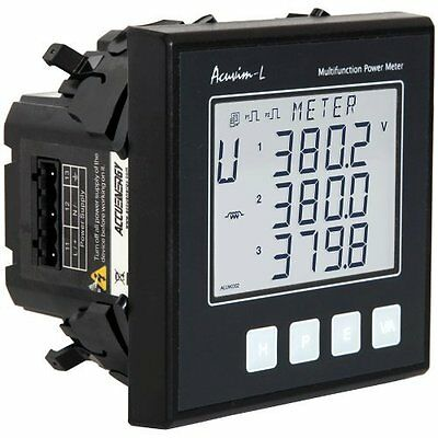 Accuenergy Acuvim-kl-d-5a-p1 Multifunction Lcd Power Meter 100-415vac 50-60hz
