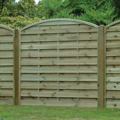 Arched Horizontal AH180 Pressure treated fence panel 6x6