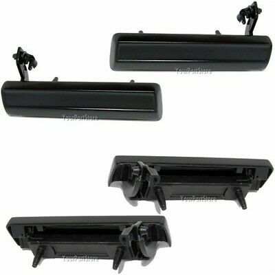 82-93 S10 PICKUP TRUCK Outer OUTSIDE Exterior DOOR HANDLES Black Left Right PAIR